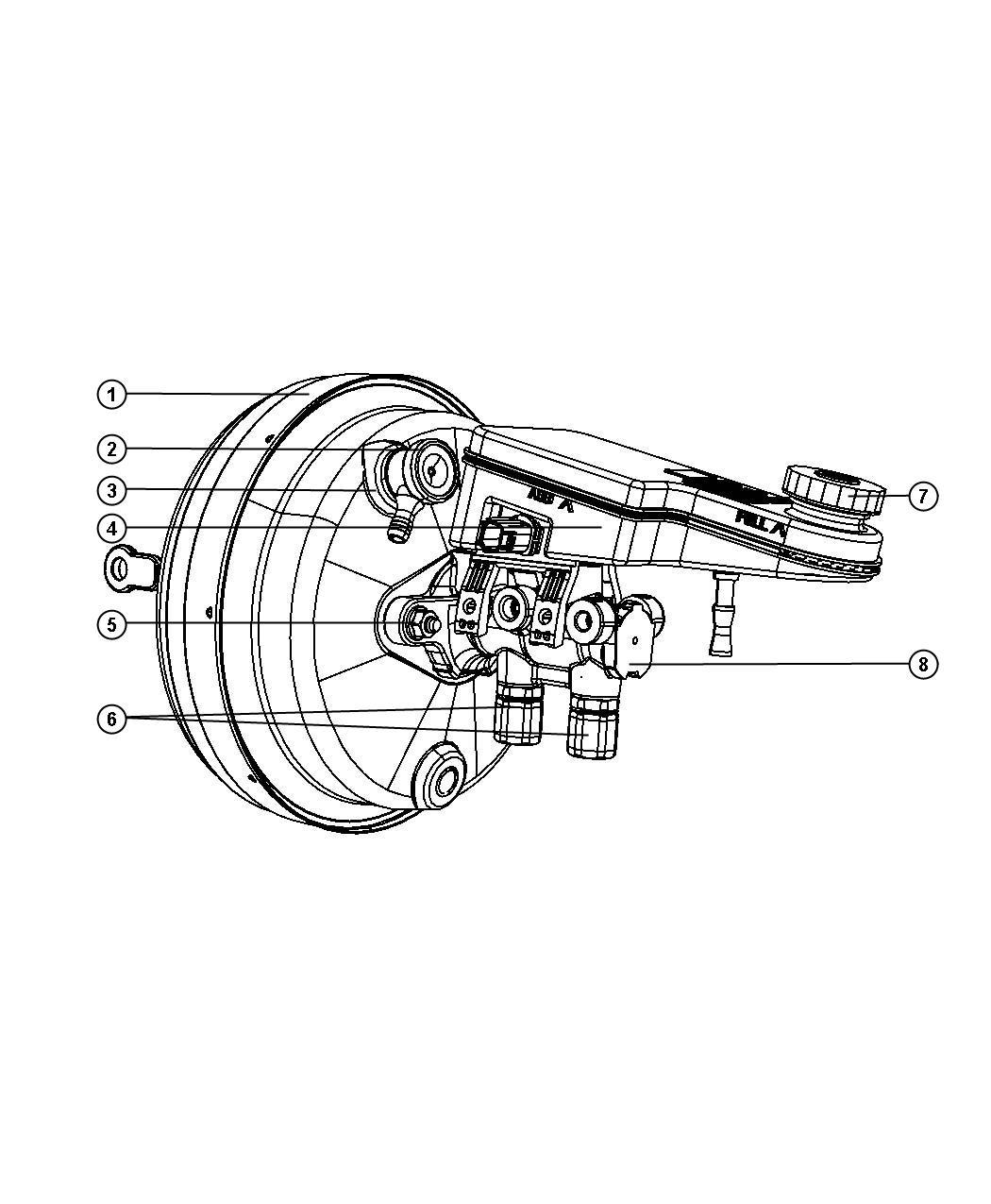 2007 Chrysler Sebring Reservoir. Brake master cylinder