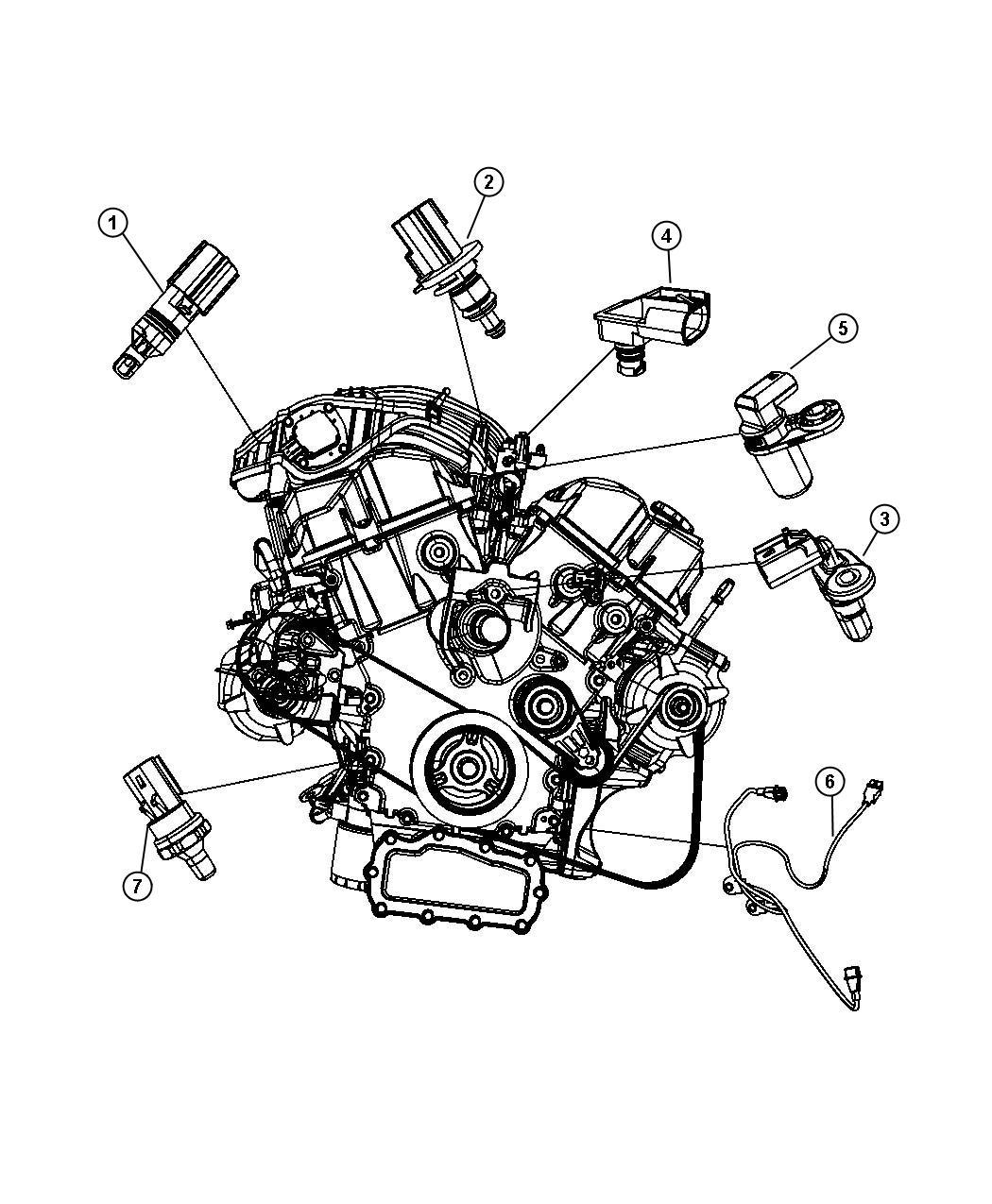 Dodge Avenger Sensor Camshaft Engine Timing Chain