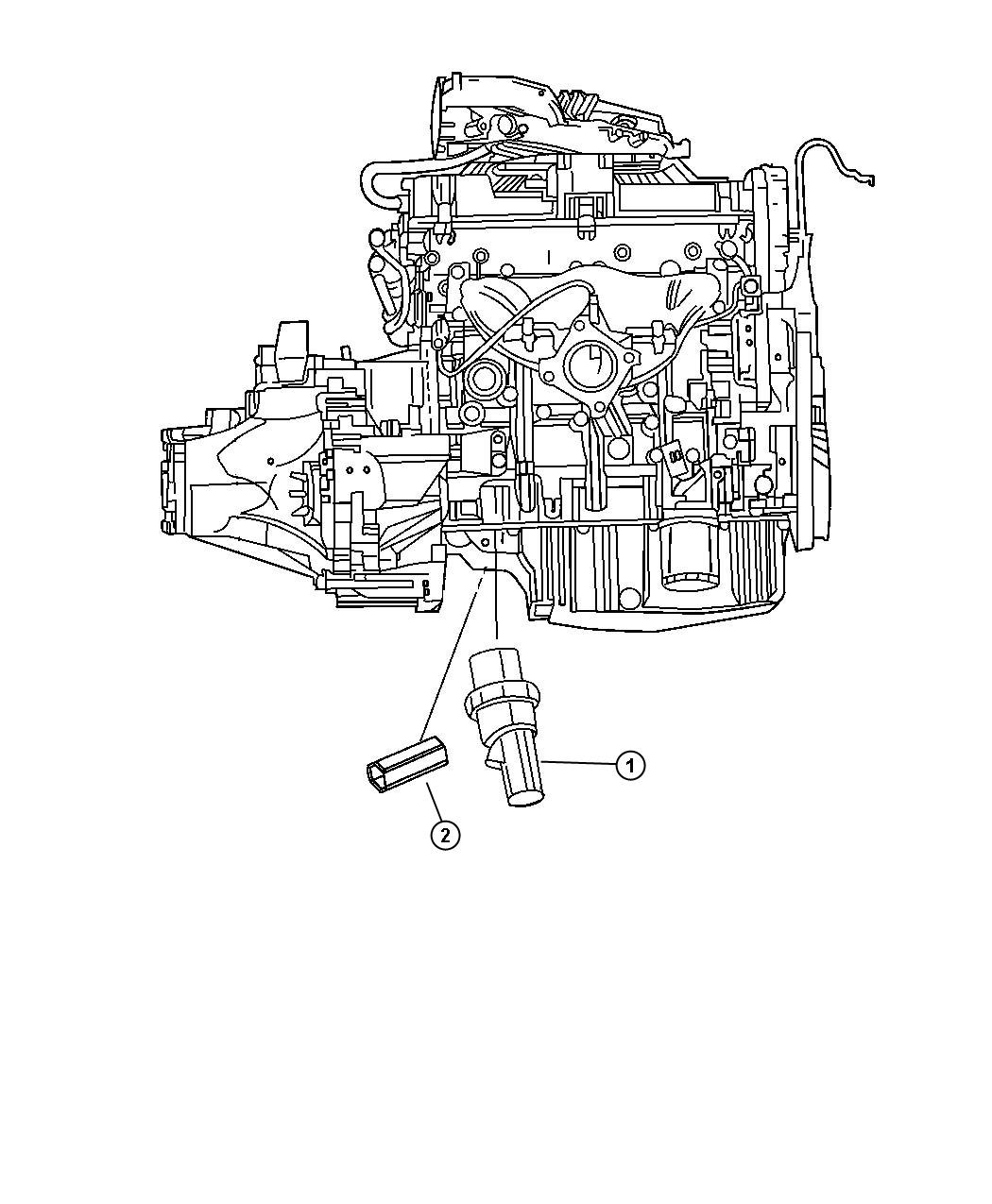 Dodge Avenger Sending Unit Switch Oil Pressure