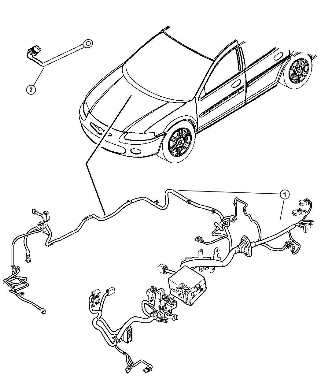 Dodge Avenger Wiring. Jumper. Cooling fan. Mopar, headlamp