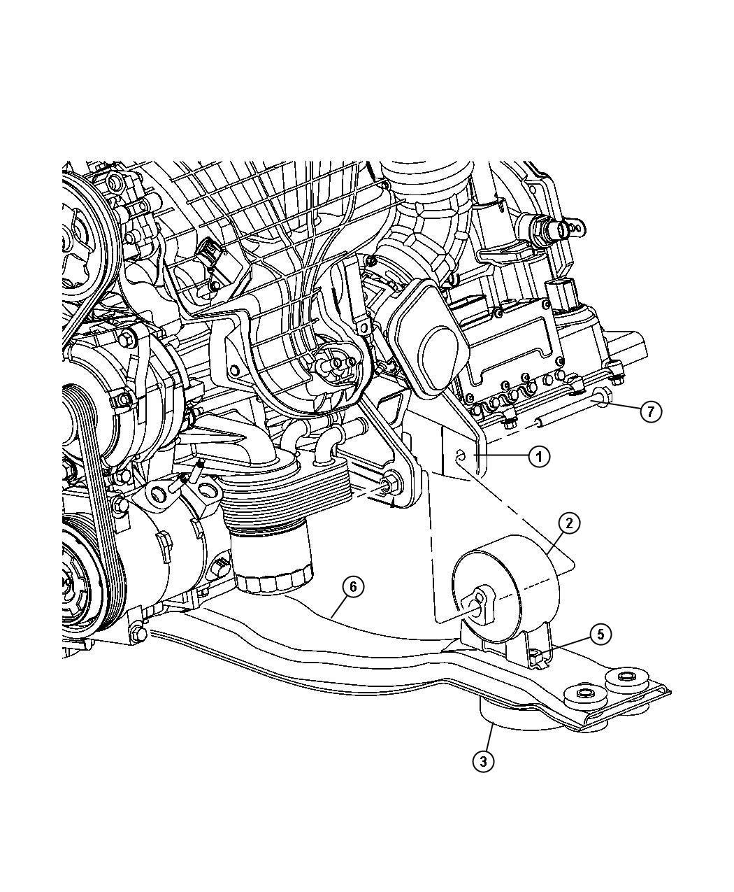 2010 Dodge Journey Bracket. Front. Engine mount. [dd7
