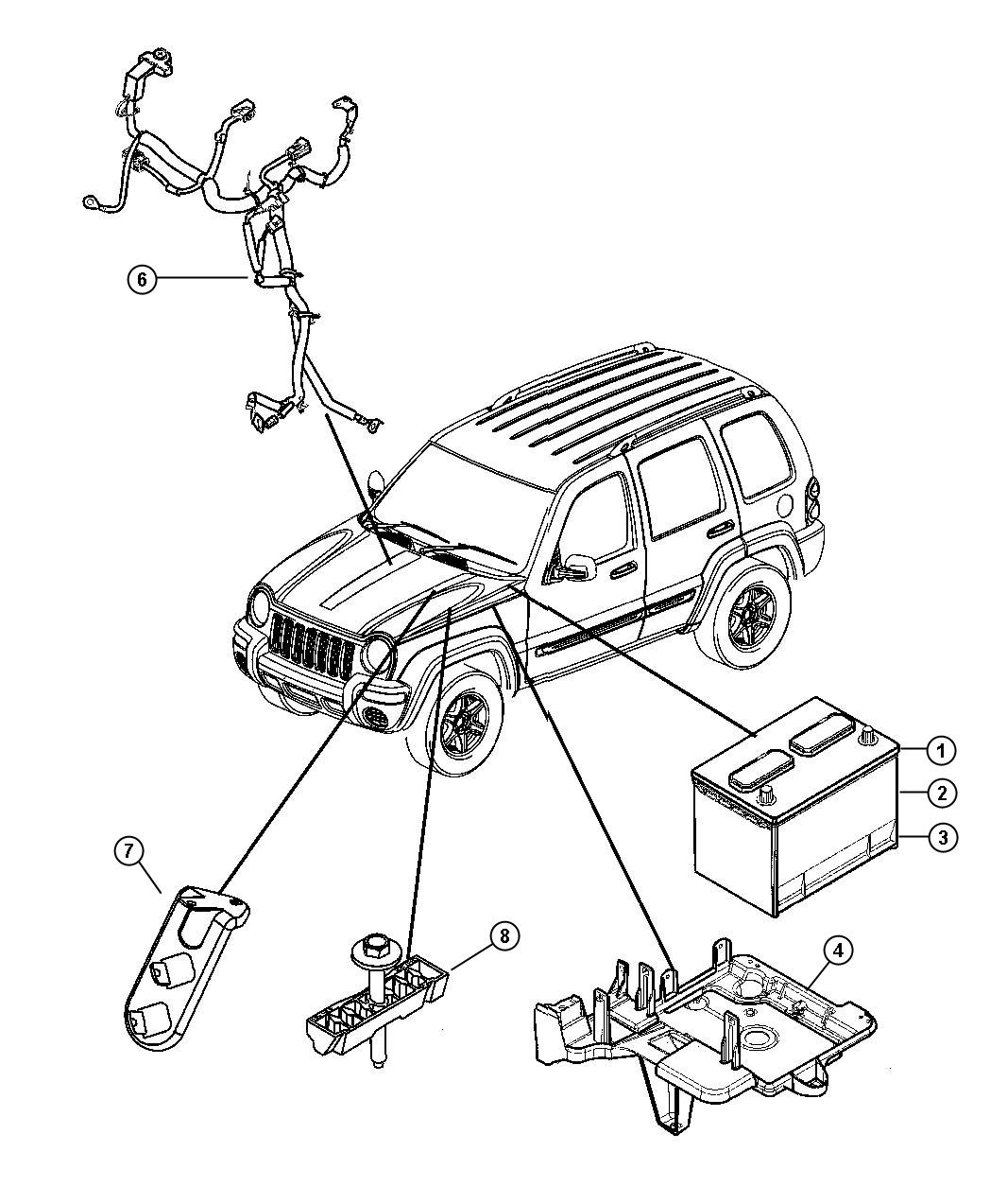 2007 Jeep Liberty Wiring. Used for: alternator and battery