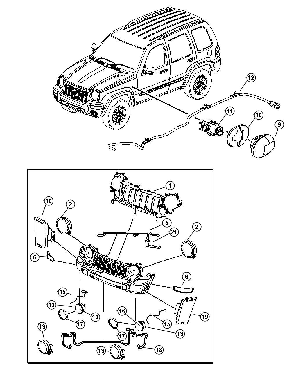 2006 Jeep Liberty Socket. Side marker. Headlamp, leveling