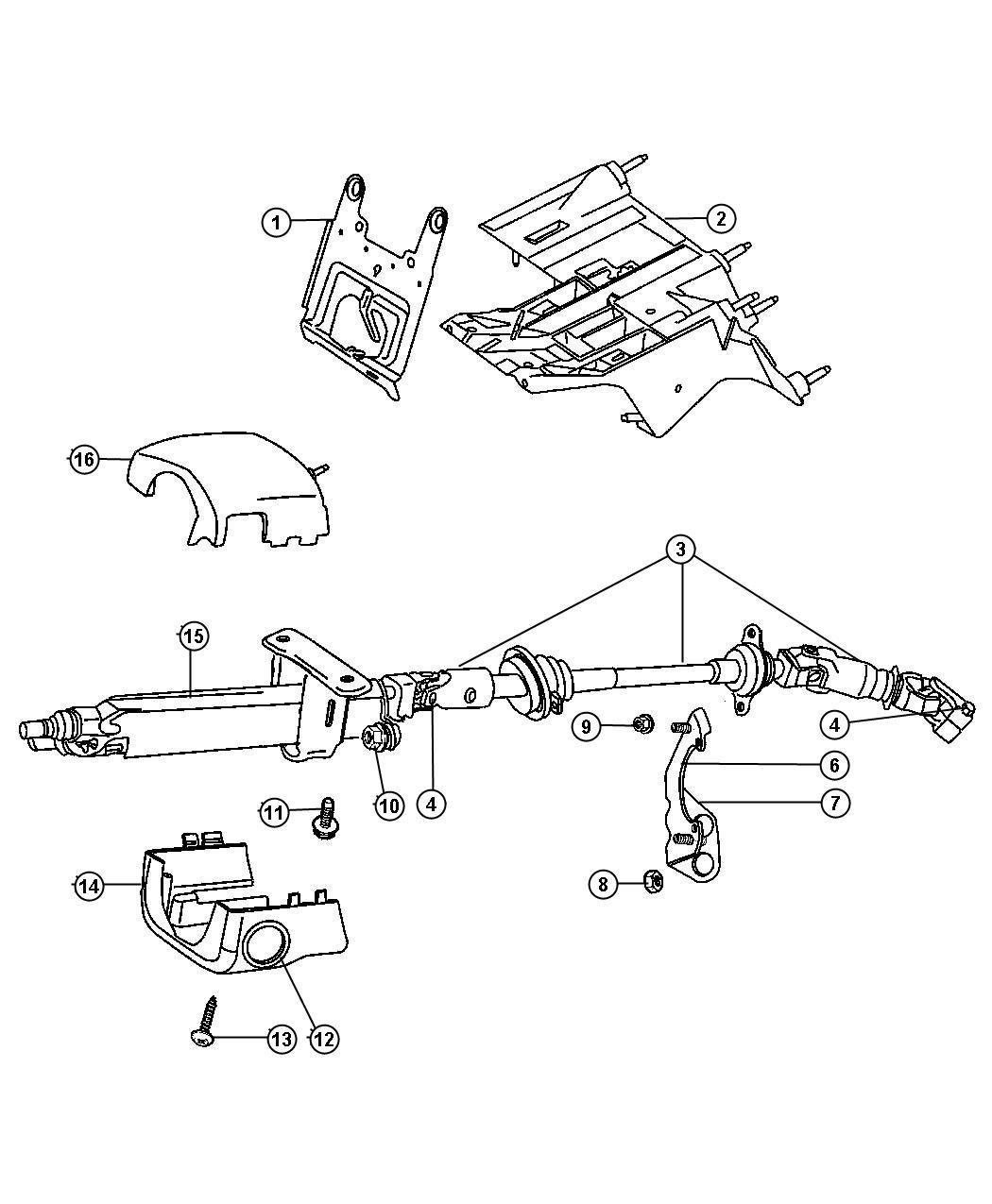 2003 Jeep Wrangler Trim ring. Ignition key cylinder