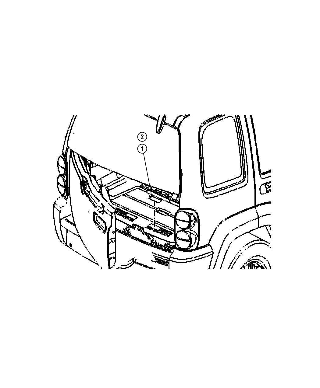 2007 Jeep Liberty Label. Brake fluid warning, master