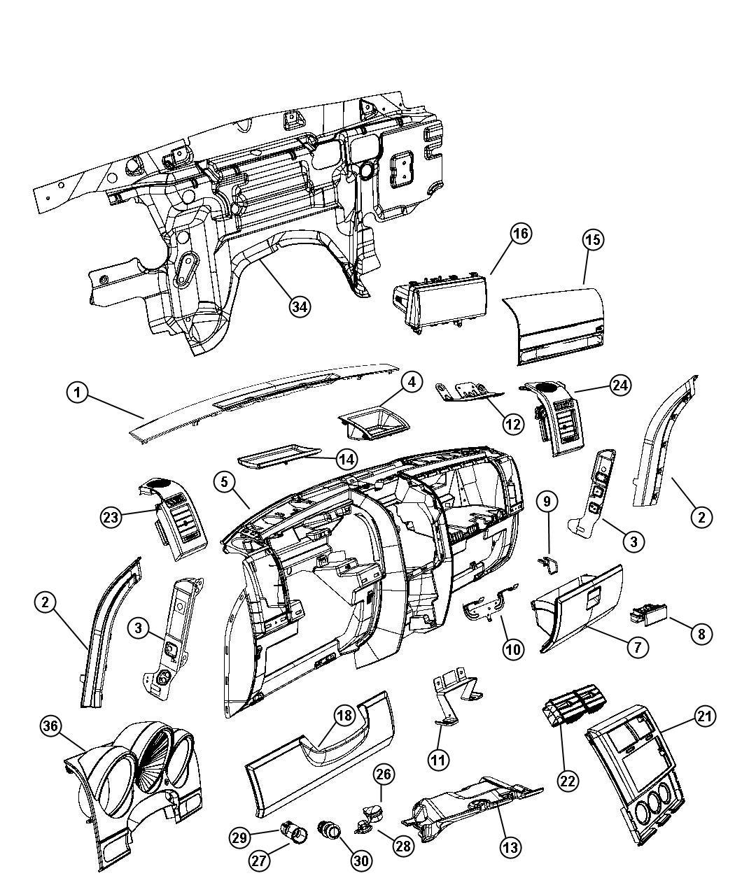 Dodge NITRO Bezel. Cluster. [j8][instrument panel]. Trim