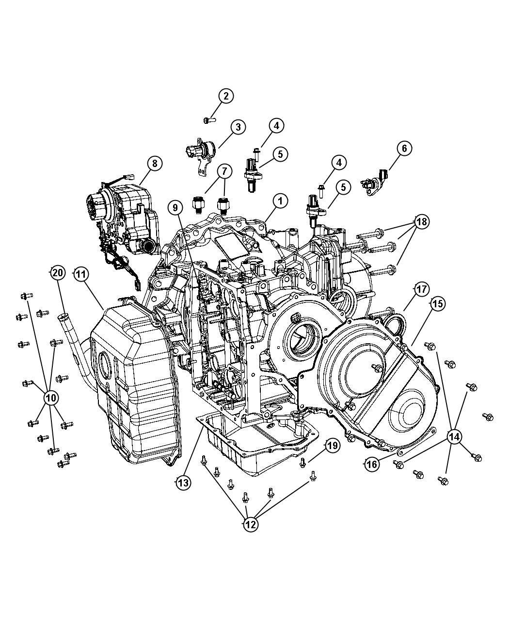Chrysler Pacifica Sensor Trans Pressure Transducer