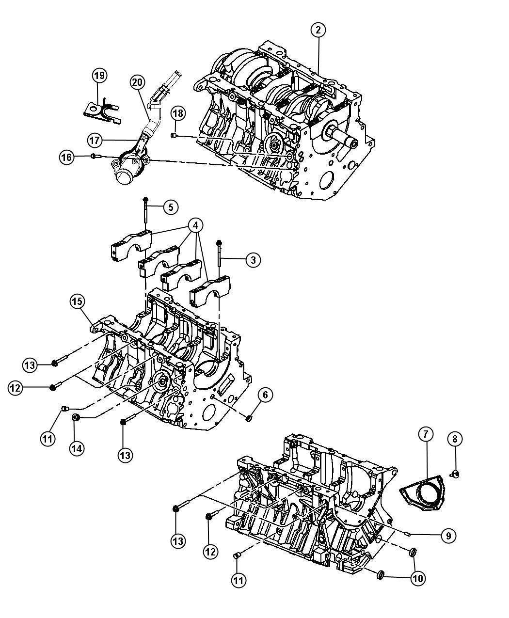 2007 Chrysler Sebring Engine. Long block. Remanufactured