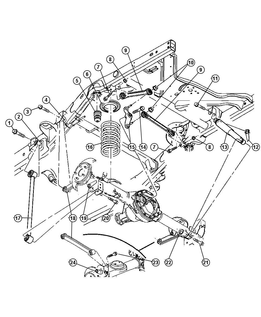 Chrysler Aspen Arm. Lower control. Rear. Suspension