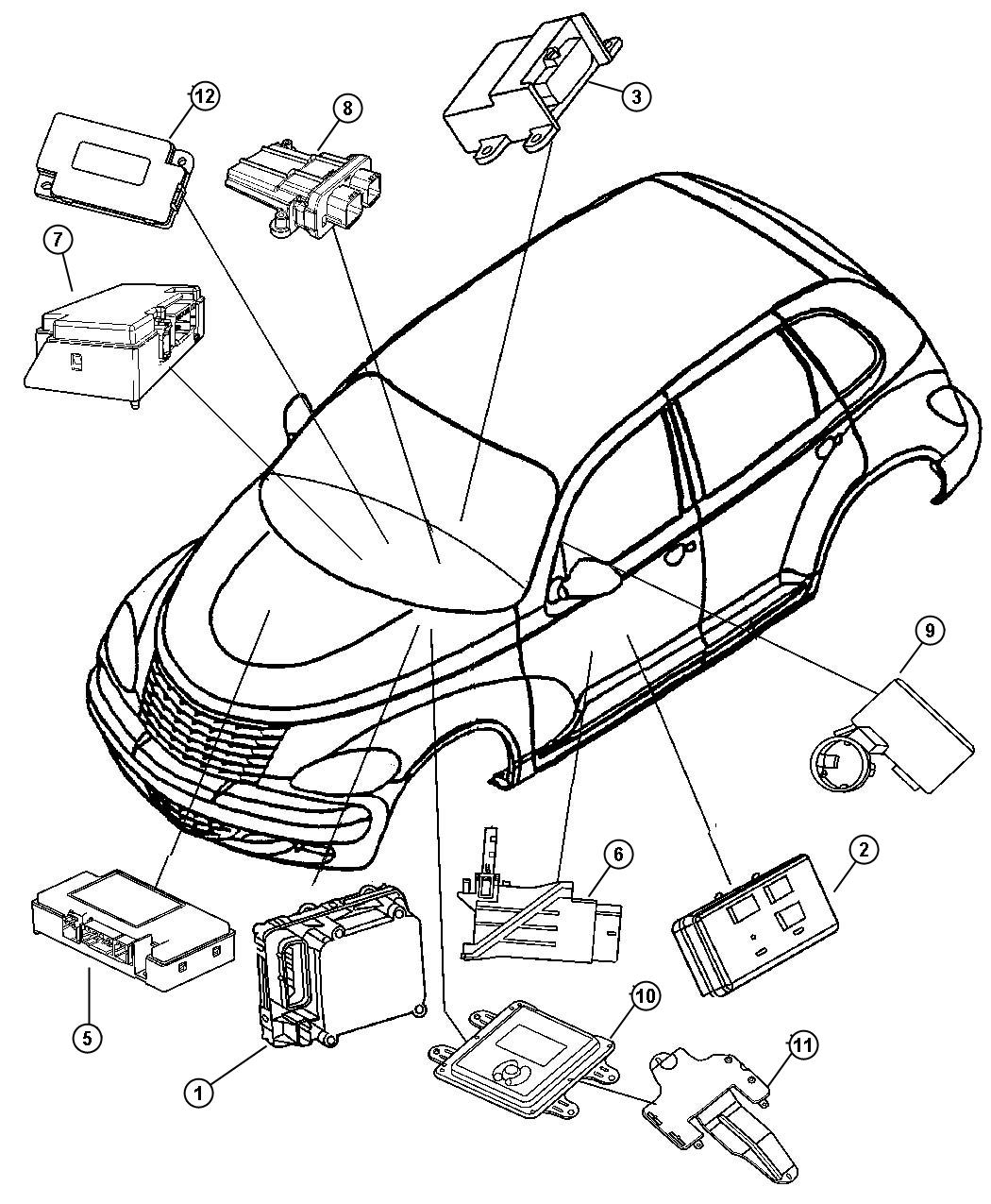2013 Jeep Patriot Module. Occupant restraint. Air, bags