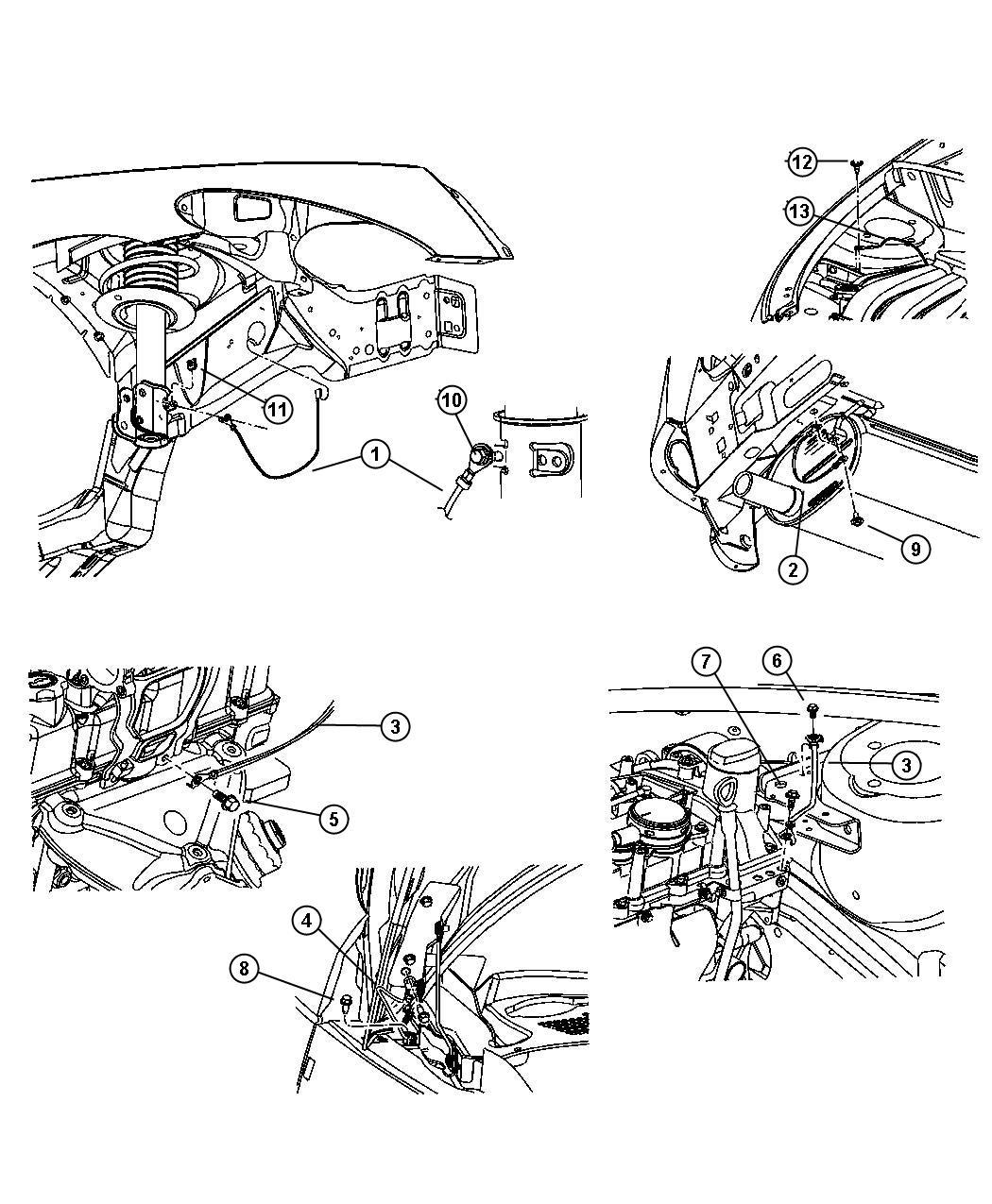 Chrysler PT Cruiser Strap. Ground. Engine to body