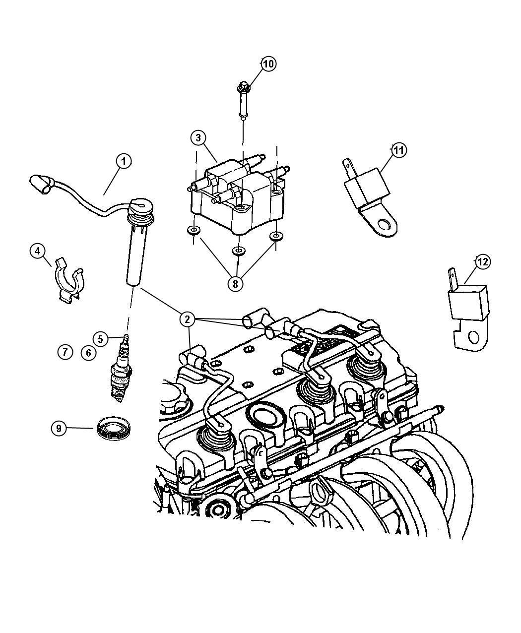 2011 Dodge NITRO Spark plug. Re16mc. Optional. Plugs