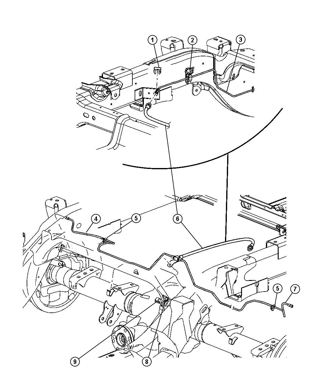 Dodge Dakota Tube Brake Chassis Rear Junction