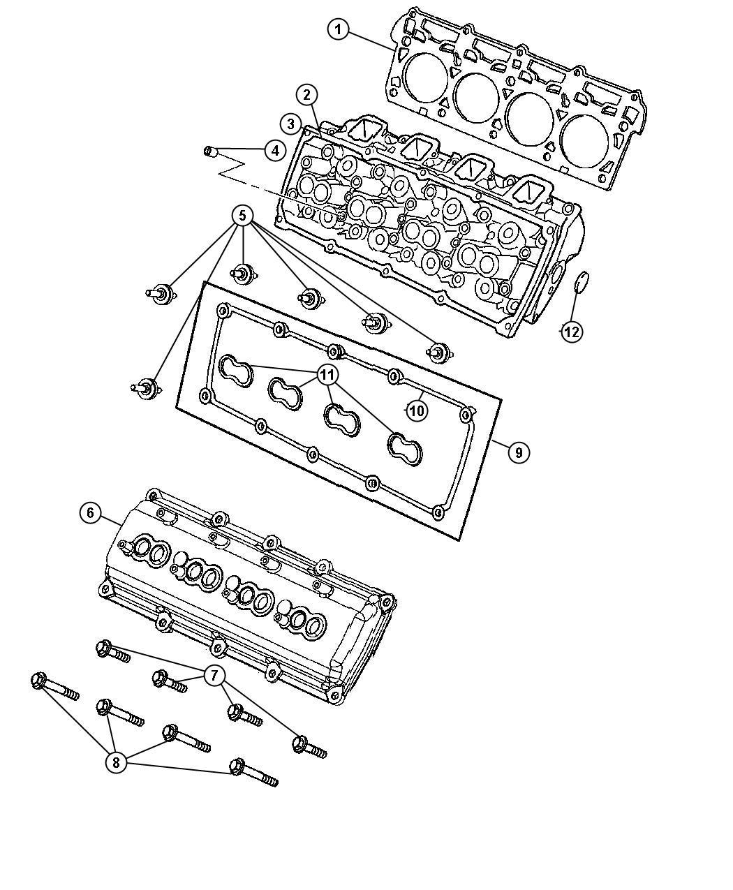 Chrysler 300 Gasket Cylinder Head Left Right Mega Cab