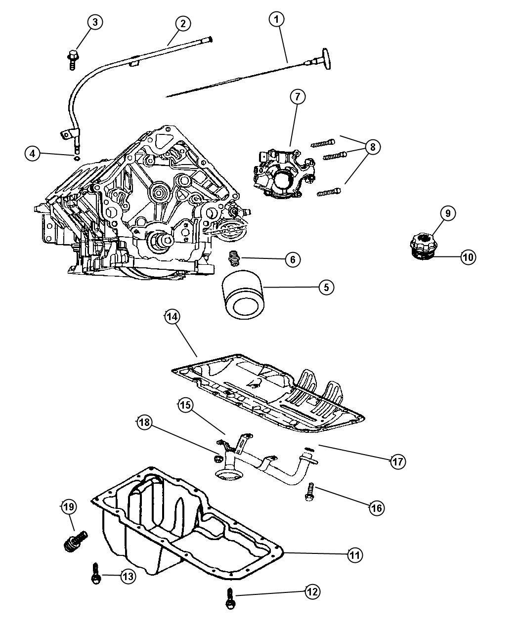 2007 Dodge Magnum Pan. Engine oil, oil. Mds, hemi
