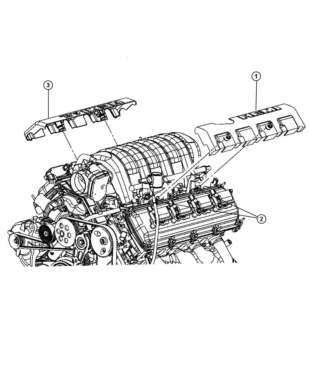 Dodge Magnum Cover. Wiring protector. Left, left side