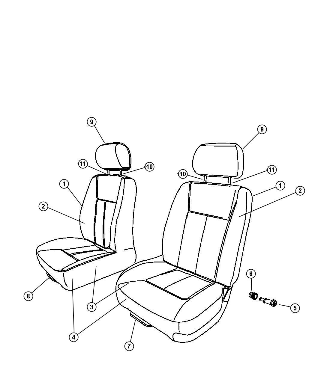 Dodge Challenger Foam. Seat cushion. Left. Trim: [cloth