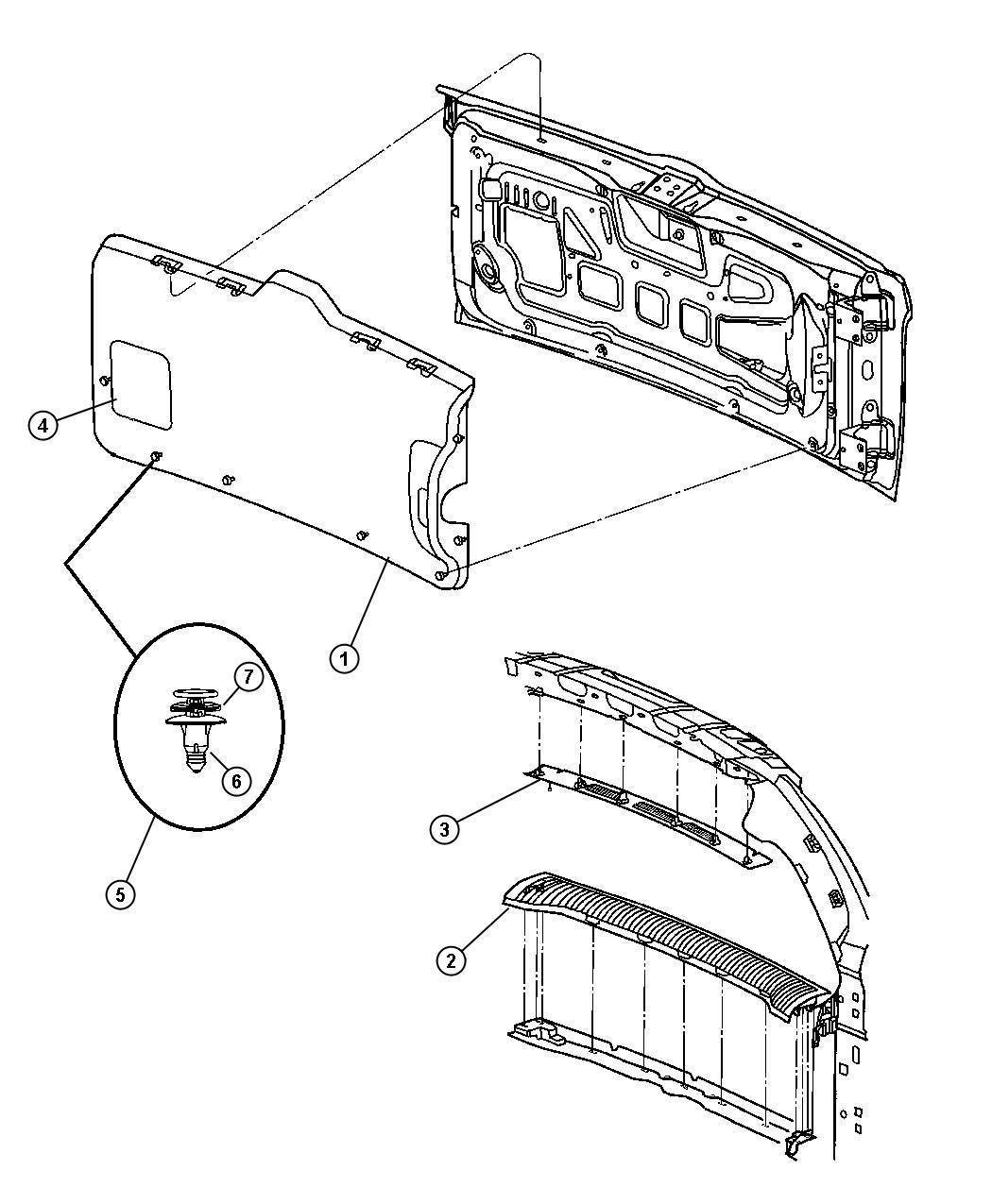 2007 Jeep Liberty Plate. Liftgate scuff. [d5, db], [d5, db