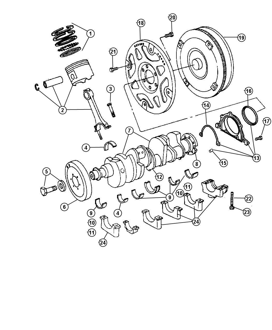 Chrysler 300 Bearing Kit Bearing Package Connecting Rod