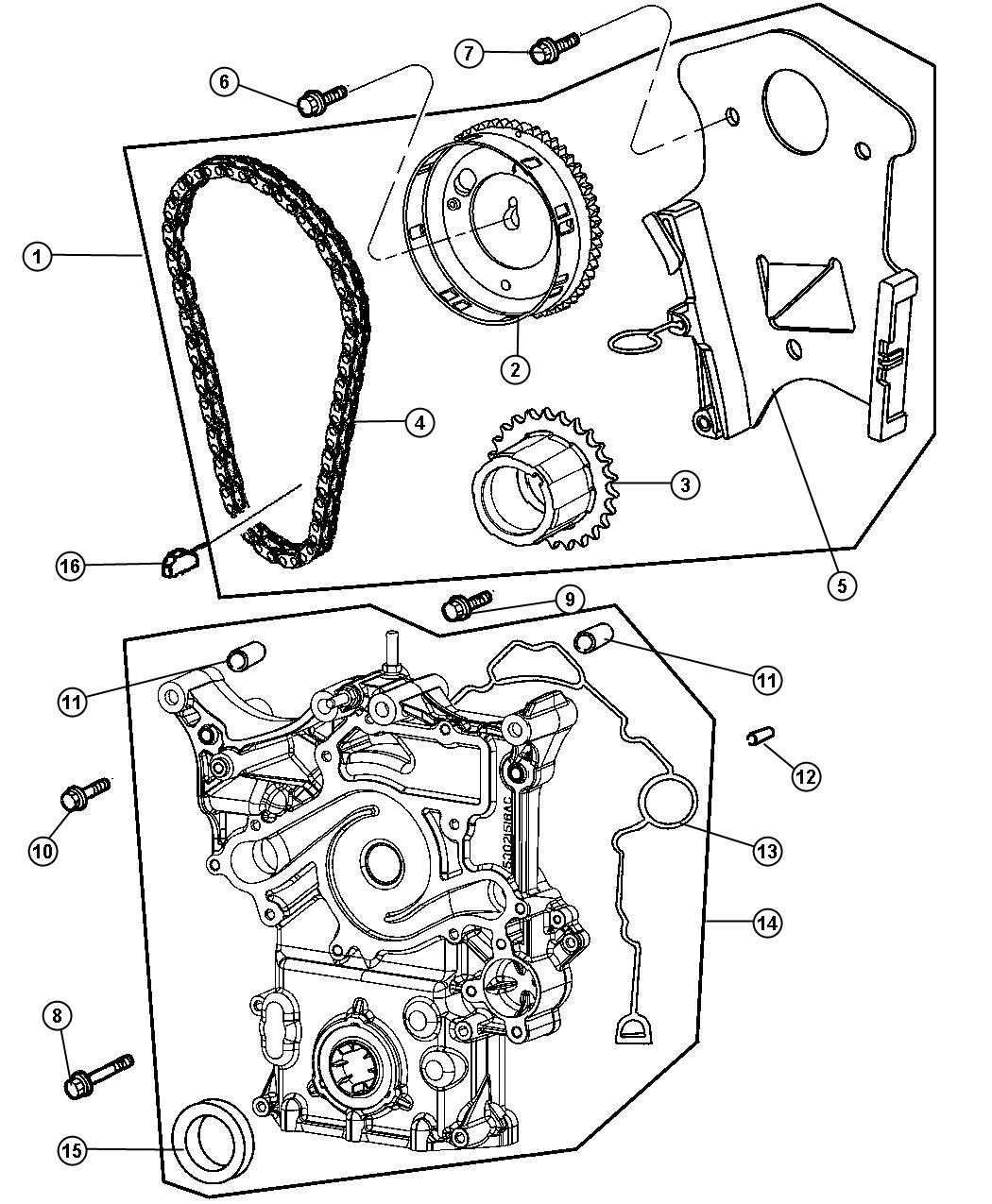Dodge Durango Timing drive kit. Engine. Mega cab, quad cab