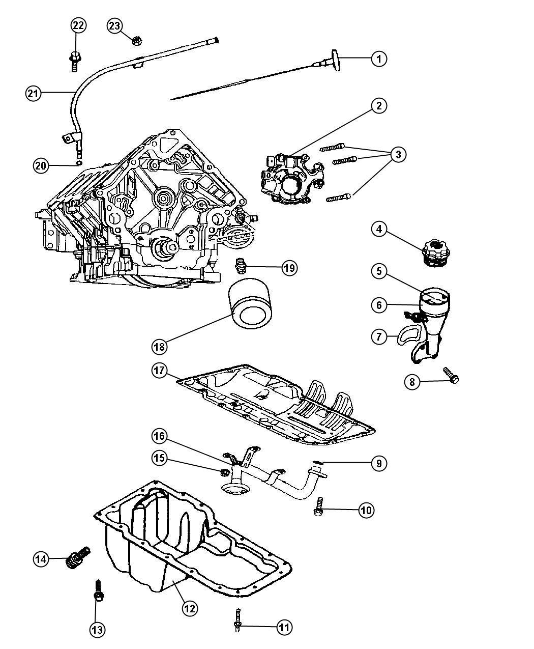 2007 Chrysler Aspen Cap. Oil filler. [[3.7l v6 engine or 4