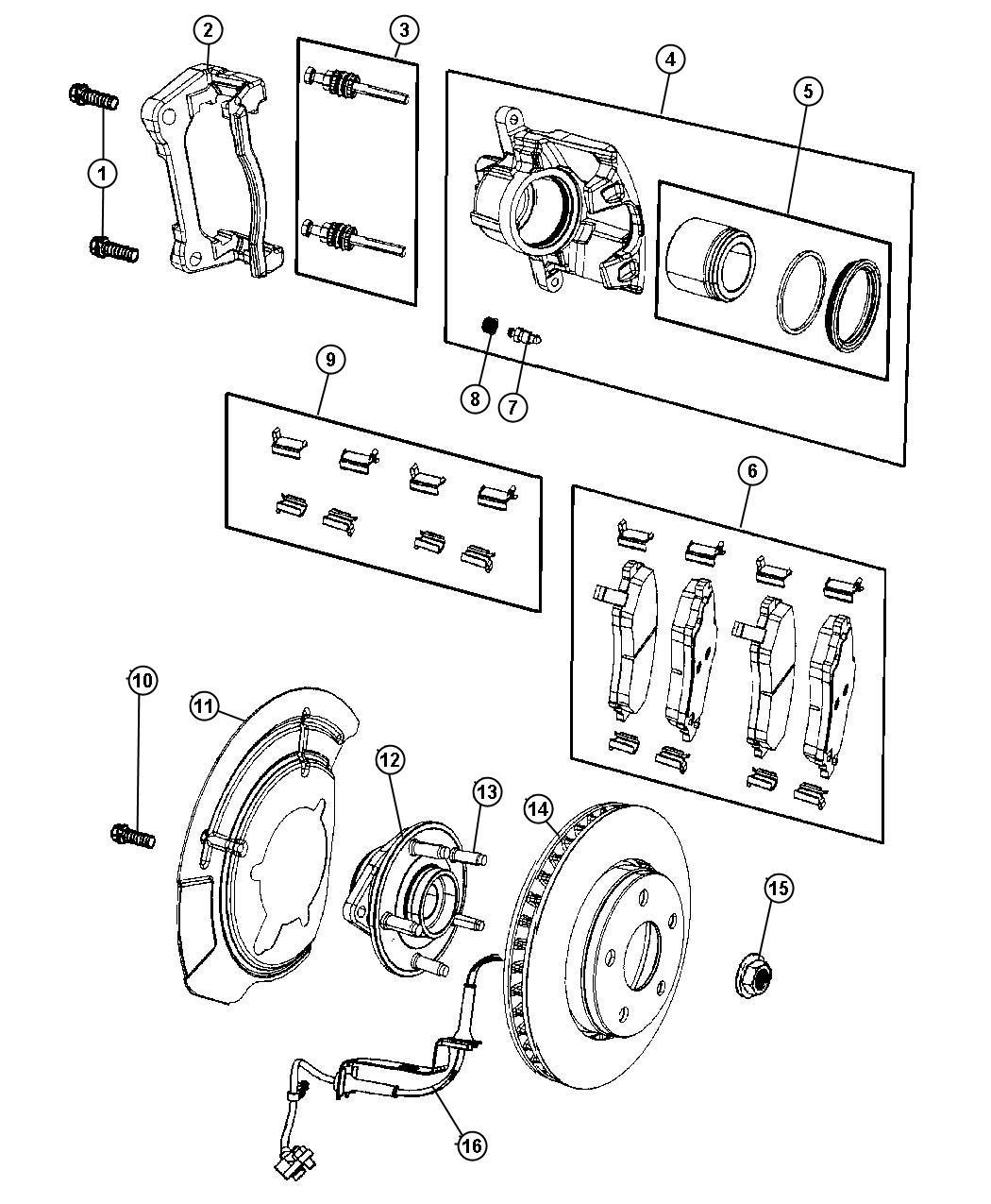 Dodge Nitro Rotor Brake Front Brakes Suspension