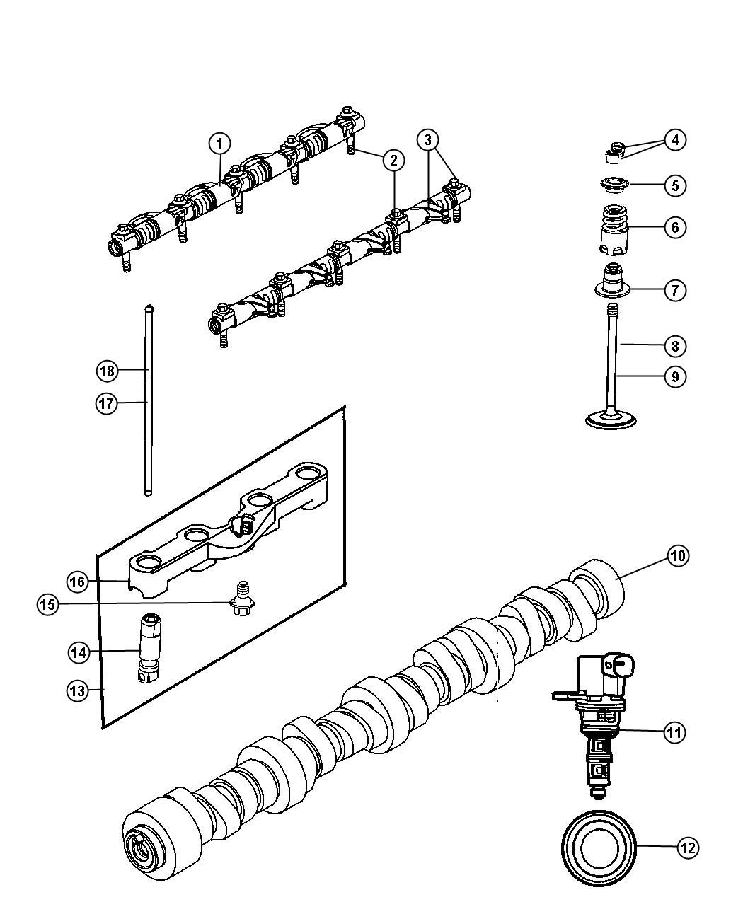 Chrysler Aspen Camshaft Engine