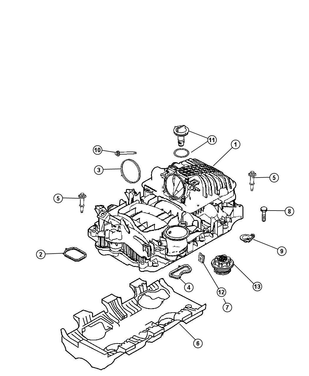 Chrysler Aspen Manifold package. Intake. Cab, manifolds
