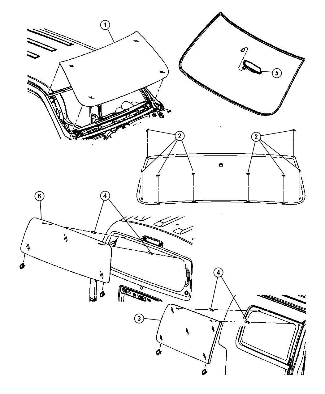 2007 Dodge NITRO Backlite. [gam], solar tint [gam], with