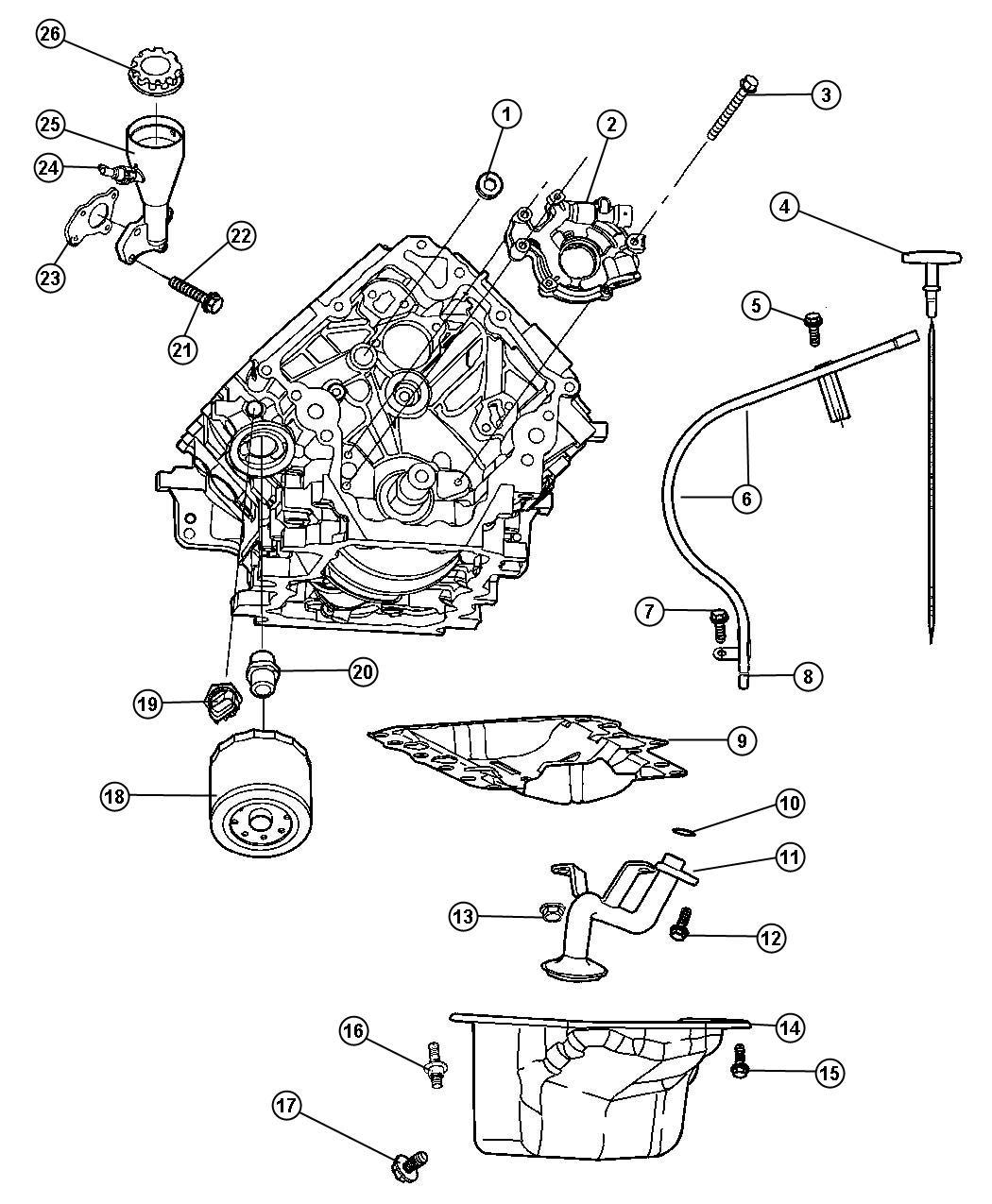 2007 Dodge Ram 1500 Valve. Crankcase vent, pcv. Ekg