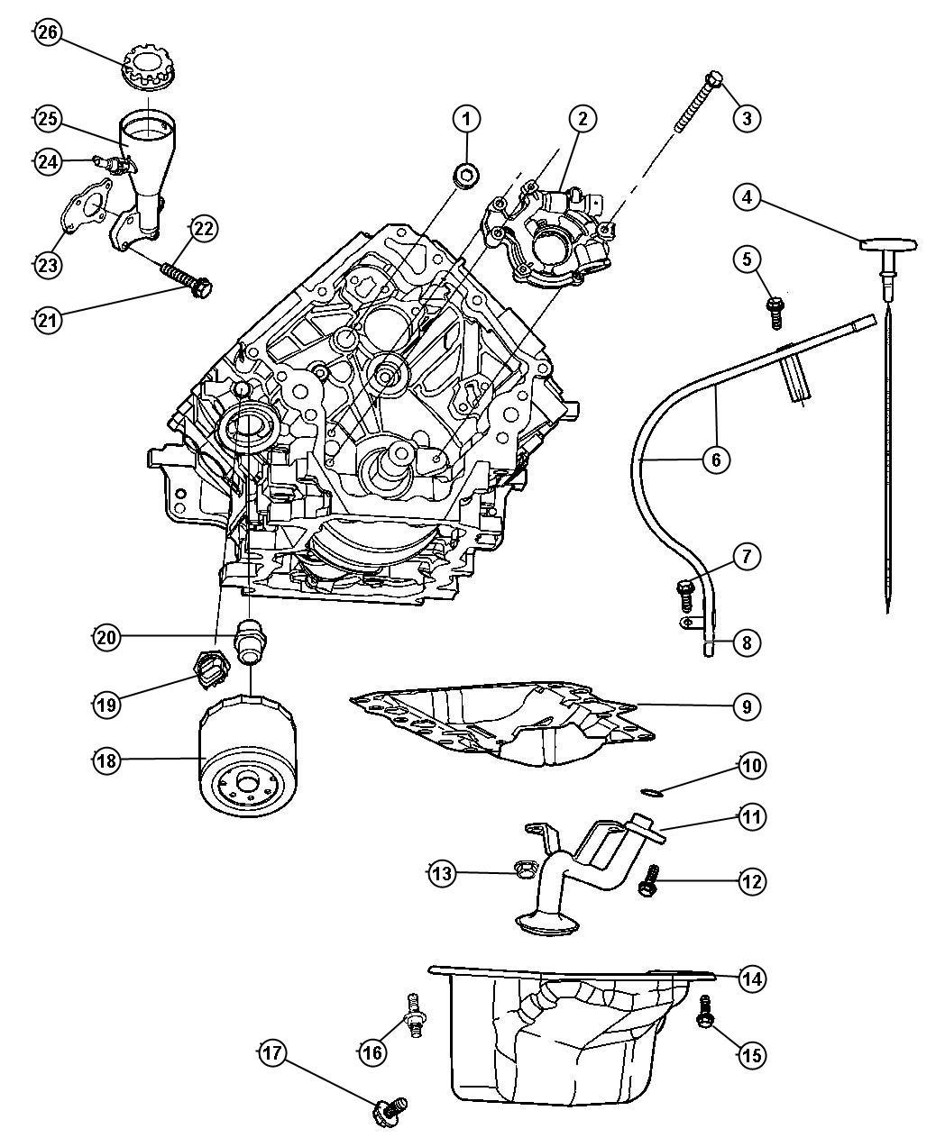 Dodge NITRO Tube. Engine oil indicator, oil gauge. Oiling