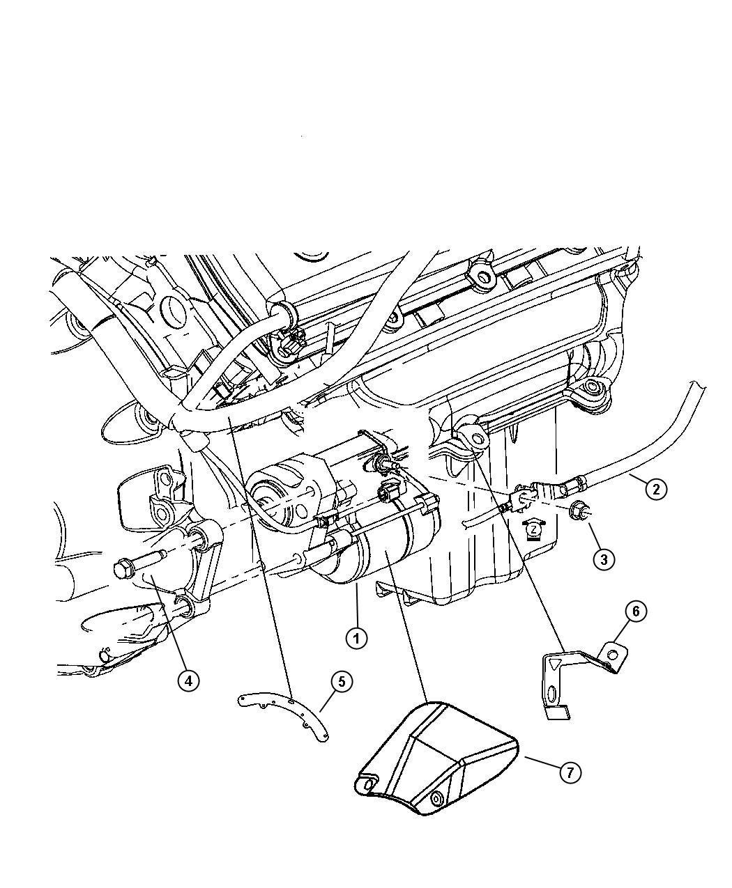 2005 Chrysler 300 Starter. Engine. Hemi, related, mds