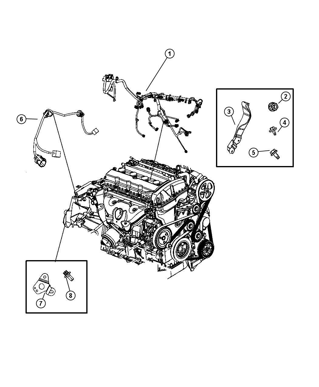 Dodge Caliber Wiring. Powertrain. Lock, disc, brakes