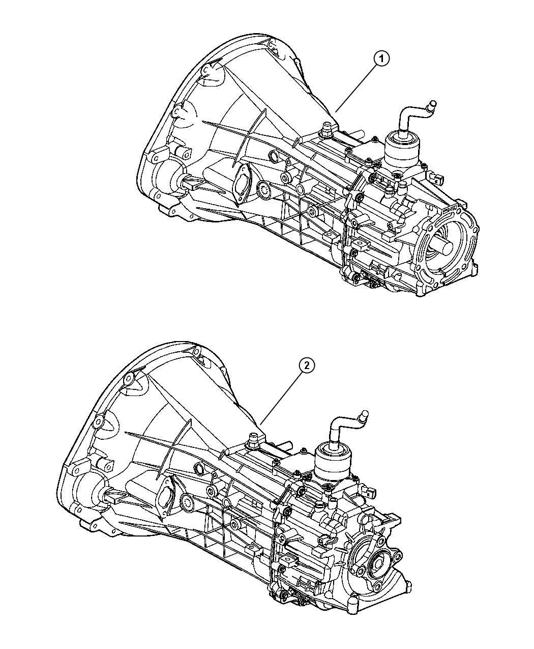 Dodge Dakota Trans. 6 speed. 2wd. Transmission, assembly