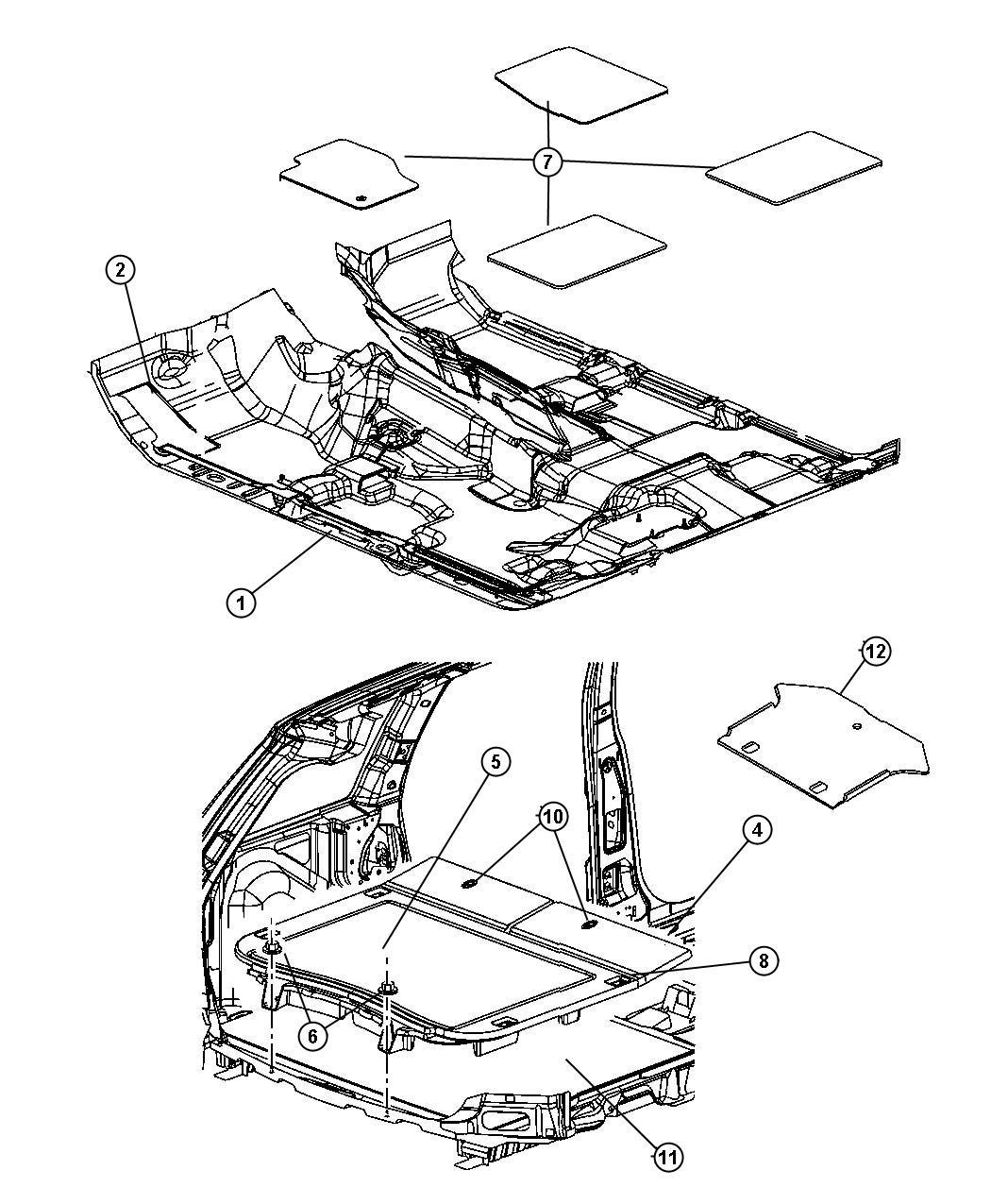 Dodge Challenger Lid Load Floor D5 Trim All Trim