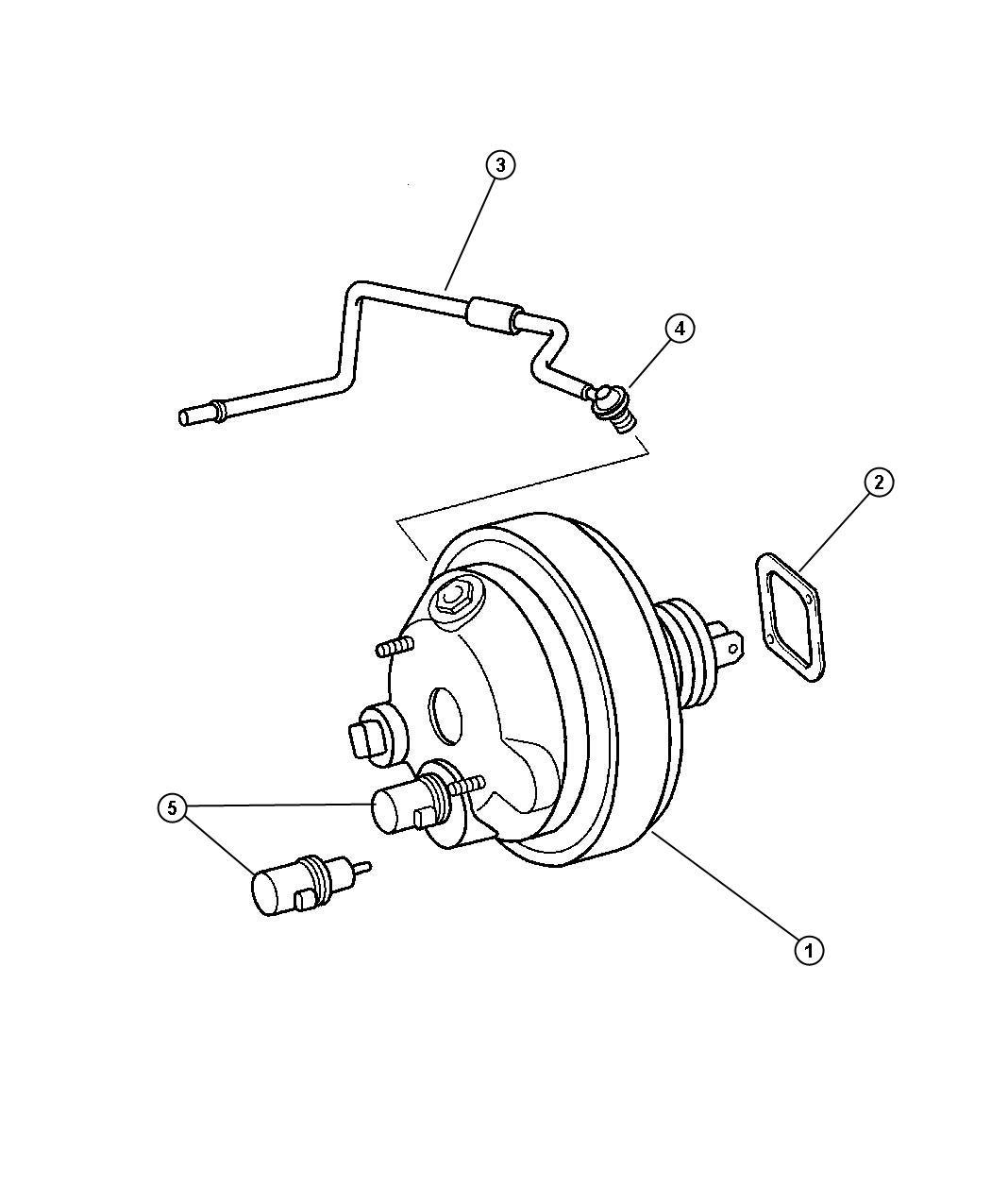 Chrysler Crossfire Hose Brake Vacuum Engine