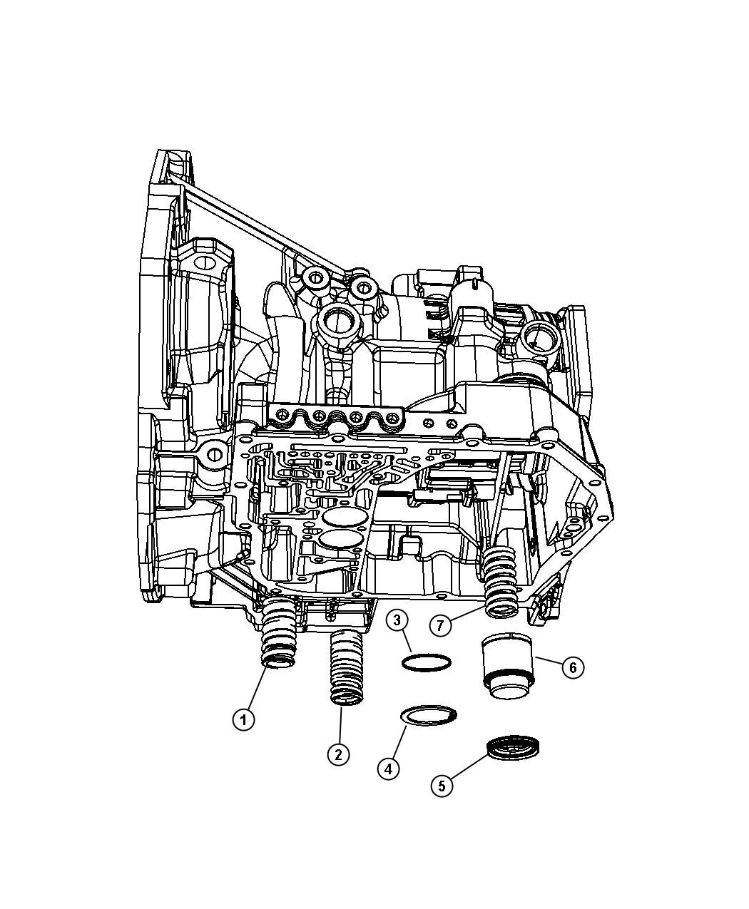 Dodge Avenger Piston. Accumulator, used for: 2nd and 4th