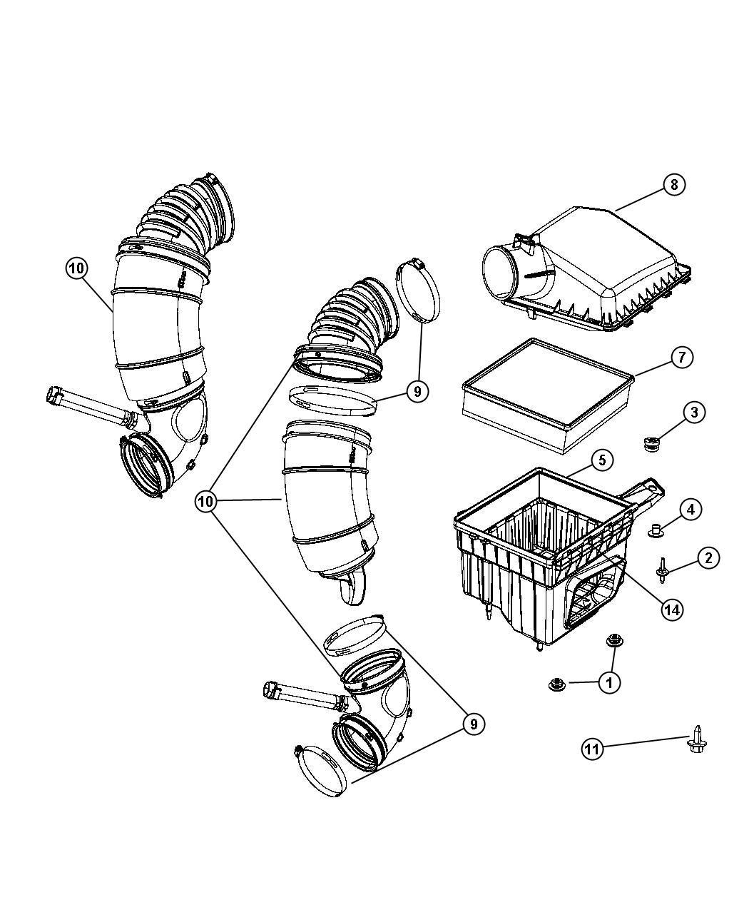 Dodge Ram Cover Air Cleaner Etj Eth