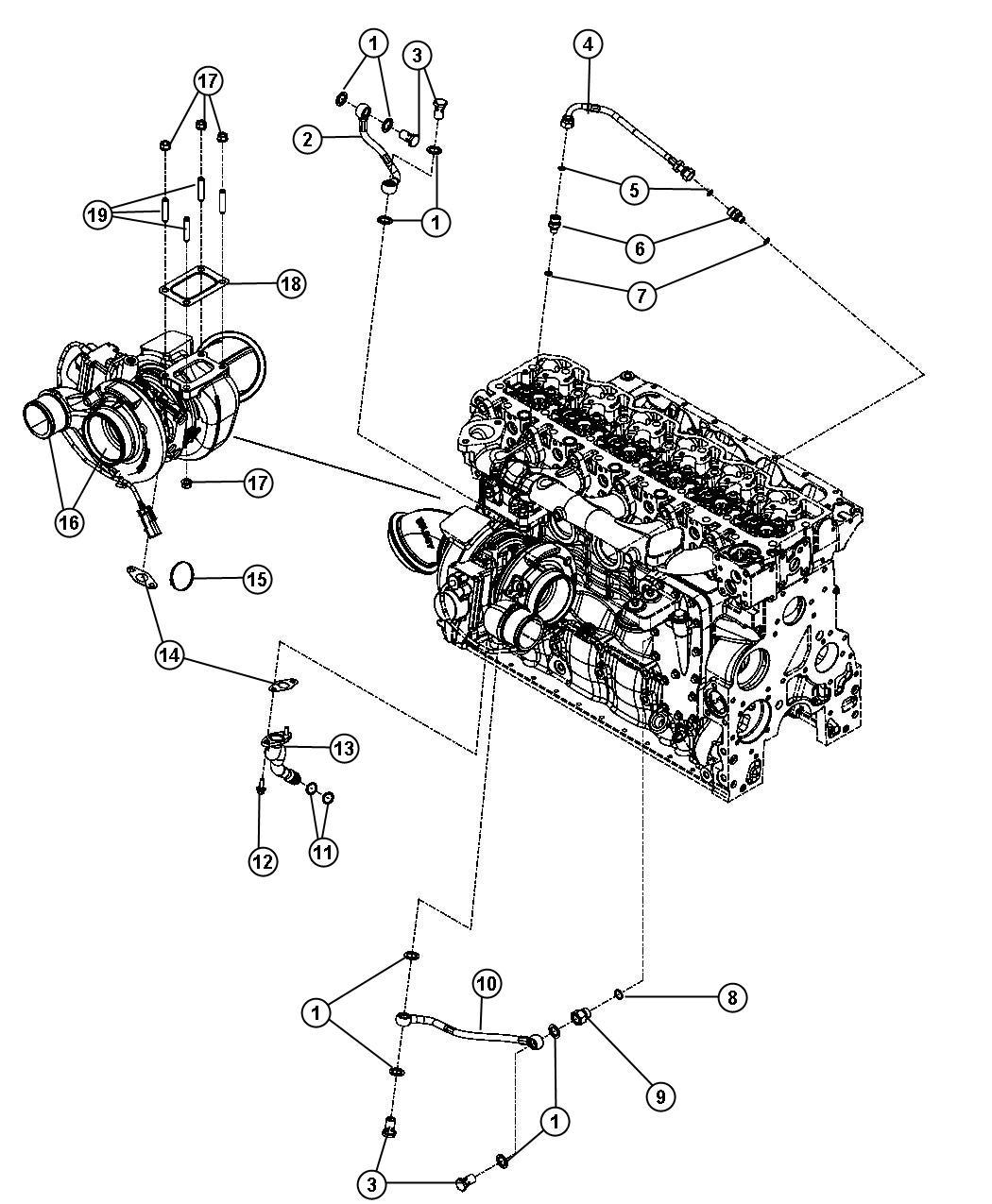Dodge Ram 3500 Actuator kit, turbocharger. Remanufactured