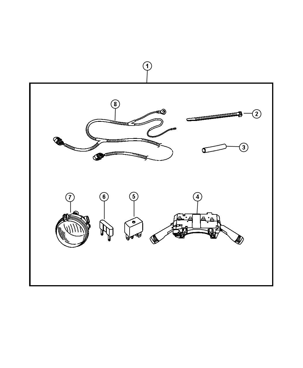 2007 Jeep Liberty Mounting kit. Light. Includes fog lamp