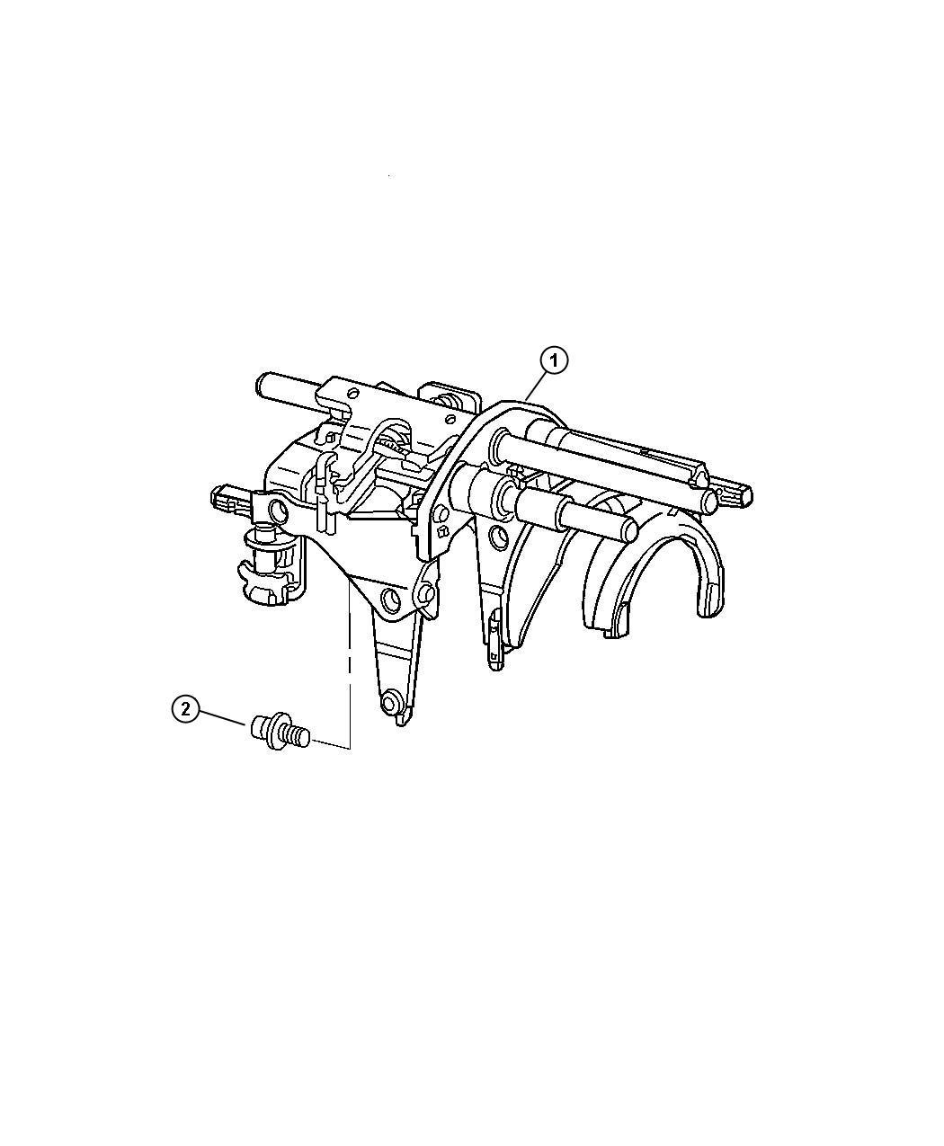 Chrysler Crossfire Fork. Transmission. Rails, forks