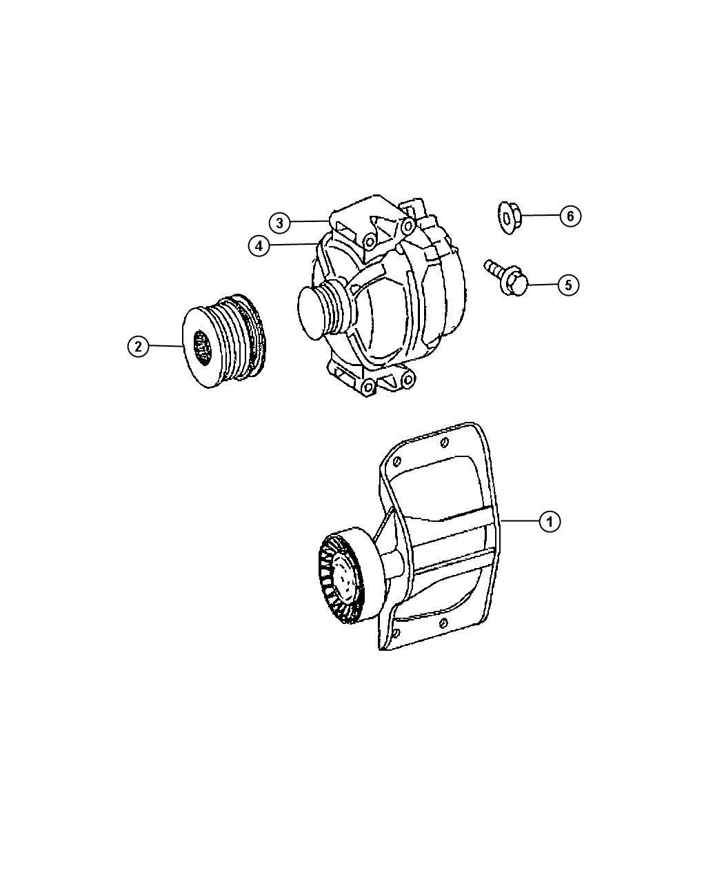 Dodge SPRINTER Generator. Engine. Remanufactured. Bosch