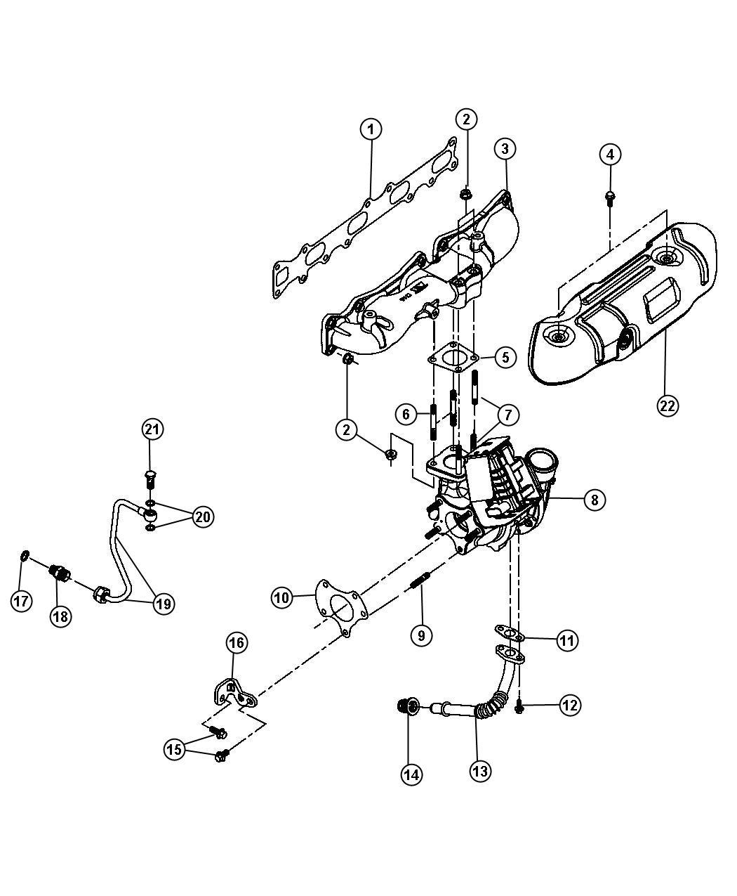 Dodge Dart Bolt Fitting Male Turbo Oil Feed
