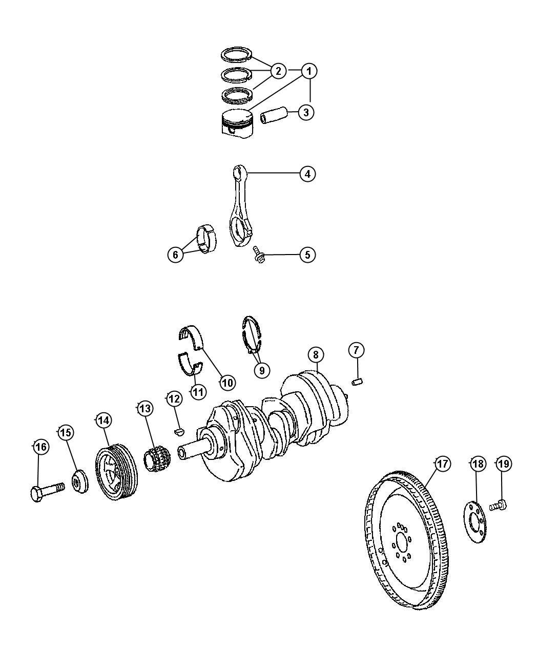 Jeep Grand Cherokee Flex Plate Crankshaftsel
