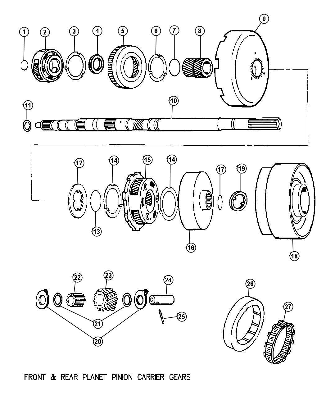 Dodge Challenger Gear. Rear annulus. Intermediate, shaft