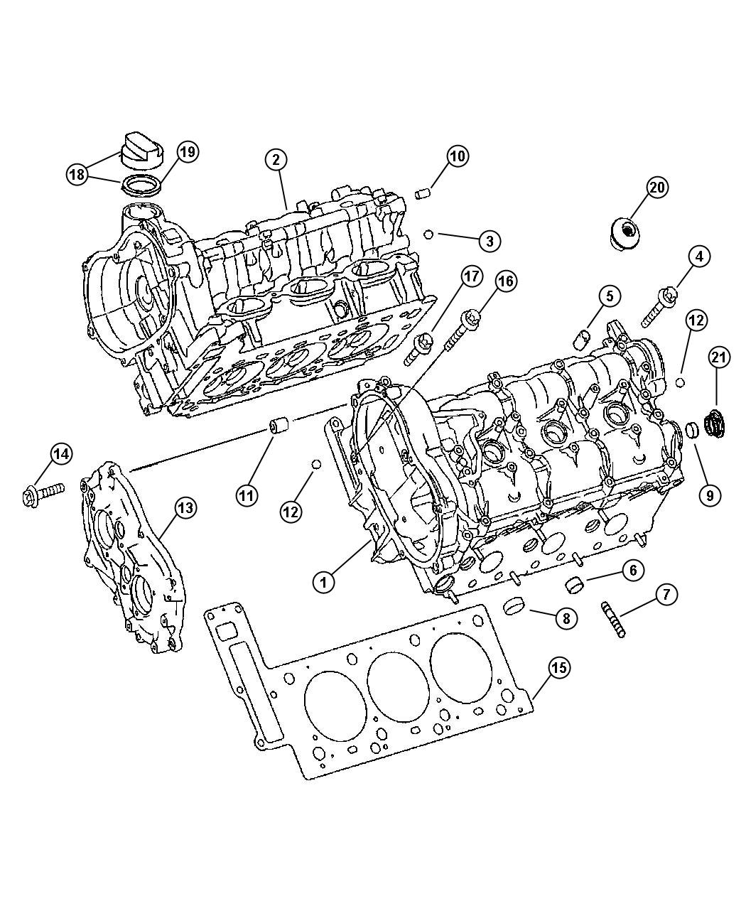 2006 Dodge SPRINTER 3500 Ball. Oil duct & timing chain