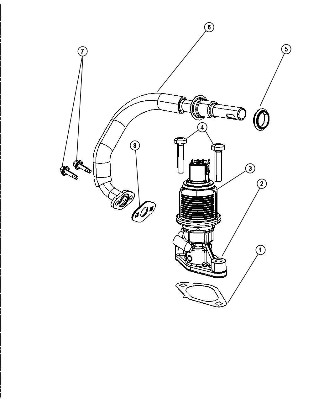 Jeep Grand Cherokee Gasket. Egr valve. System, eva