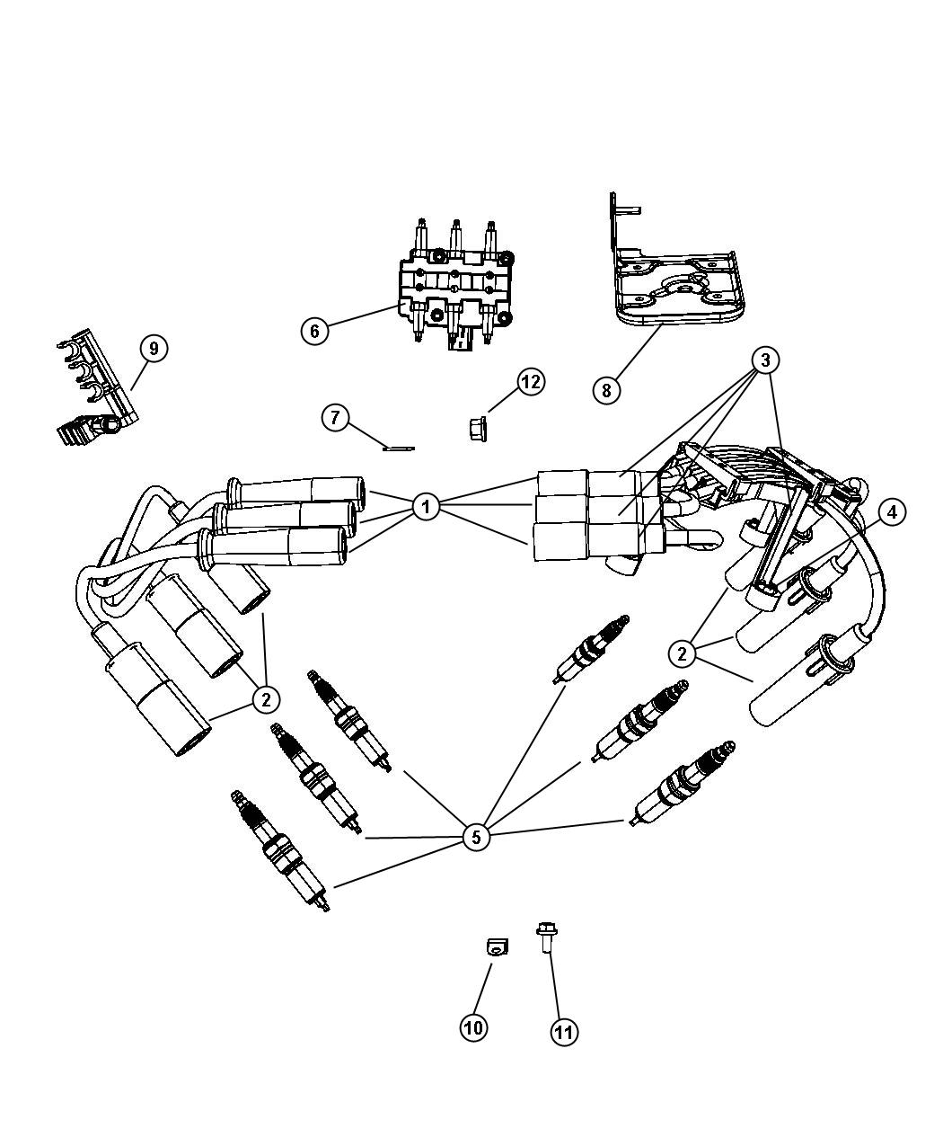 Dodge Dakota Cable Package Ignition Engine