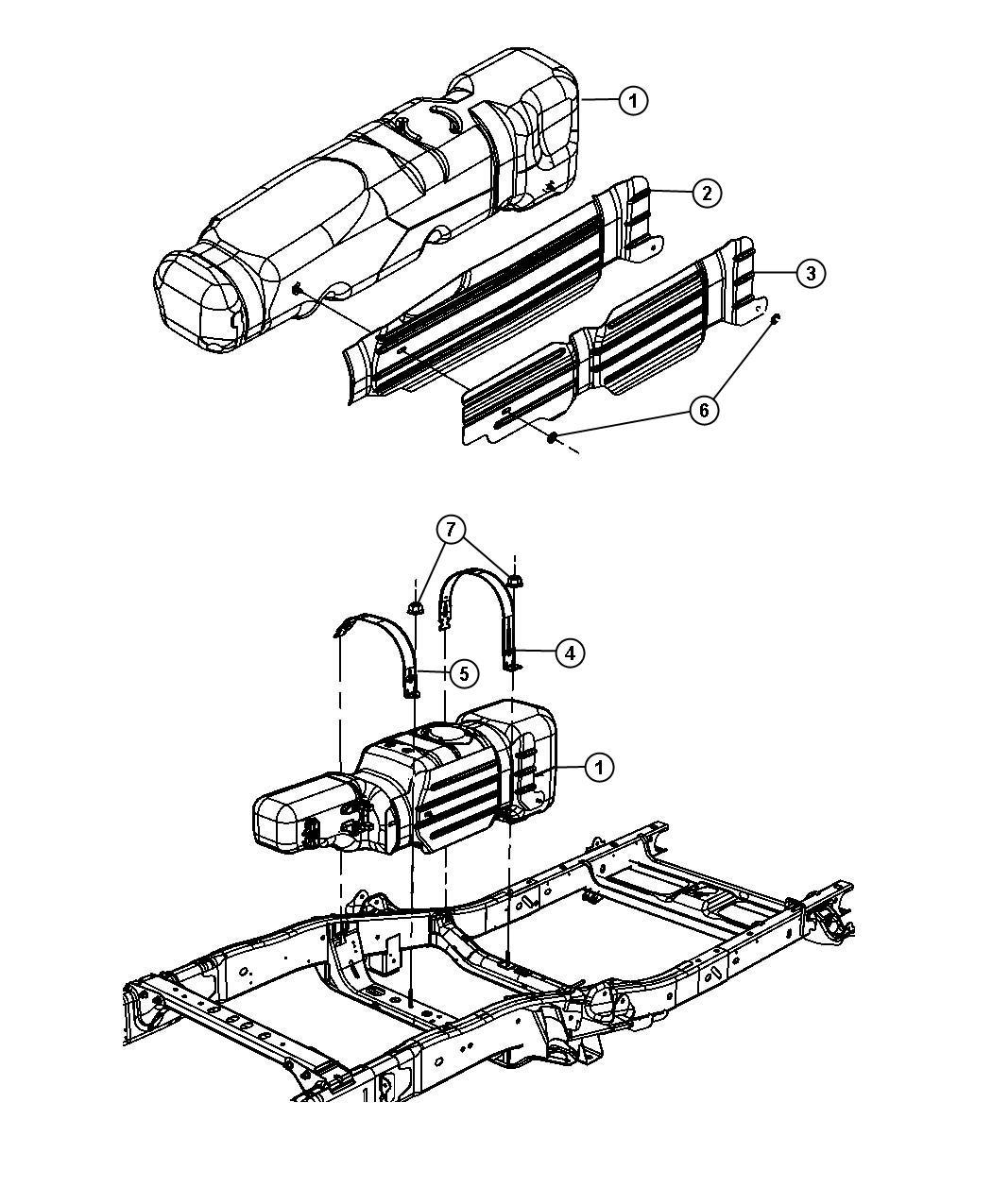 Dodge Ram Tank Fuel 35 Gallon Flexible Related