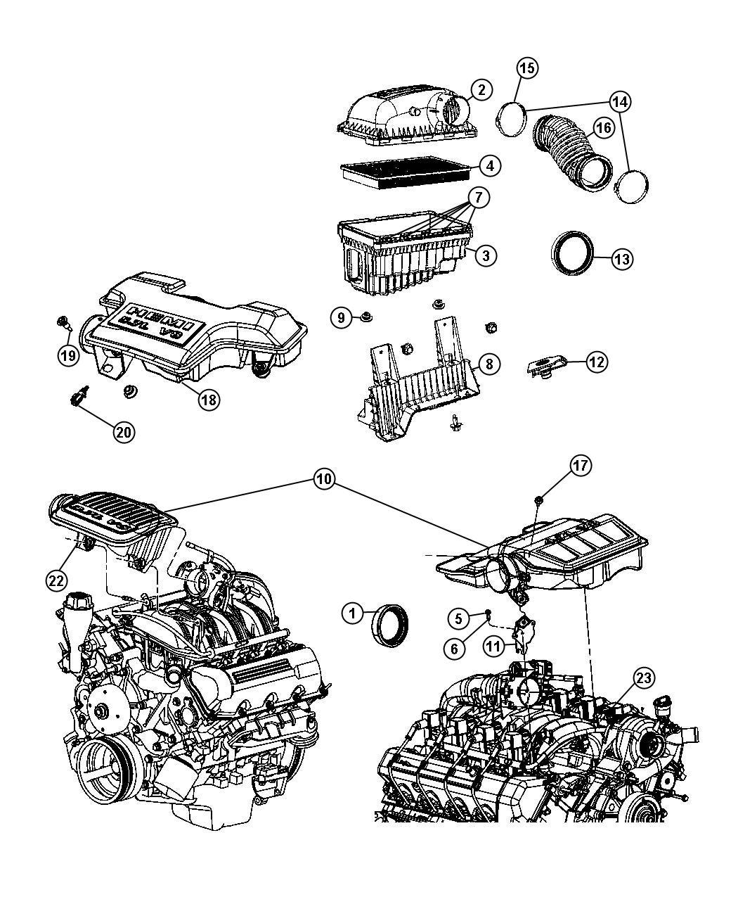 Dodge Ram Resonator Throttle Body Upper Engine